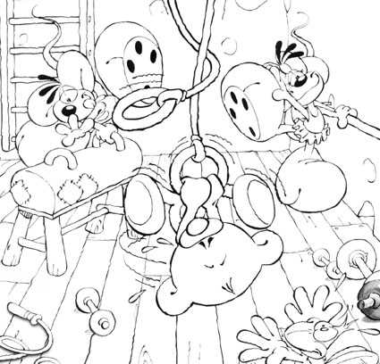 Coloriage diddl page 2 - Diddle dessin ...